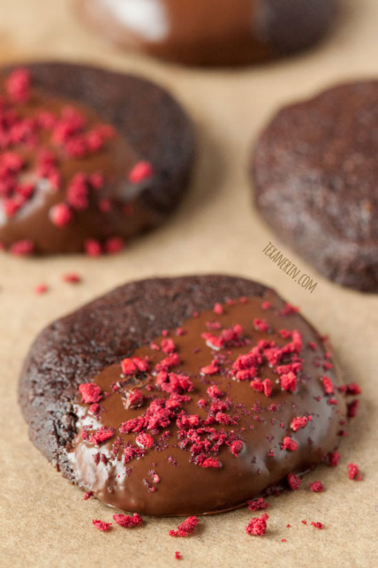 Chocolate Dipped Cookies – gluten-free, grain-free, dairy-free, paleo-friendly and 100% whole grain!
