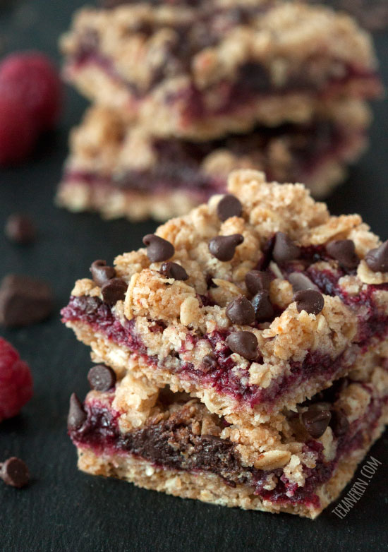 Chocolate Raspberry Oat Bars – 100% whole grain (but can also be ...
