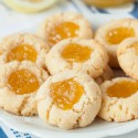 Lemon Curd Thumbprint Cookies (grain-free, gluten-free)