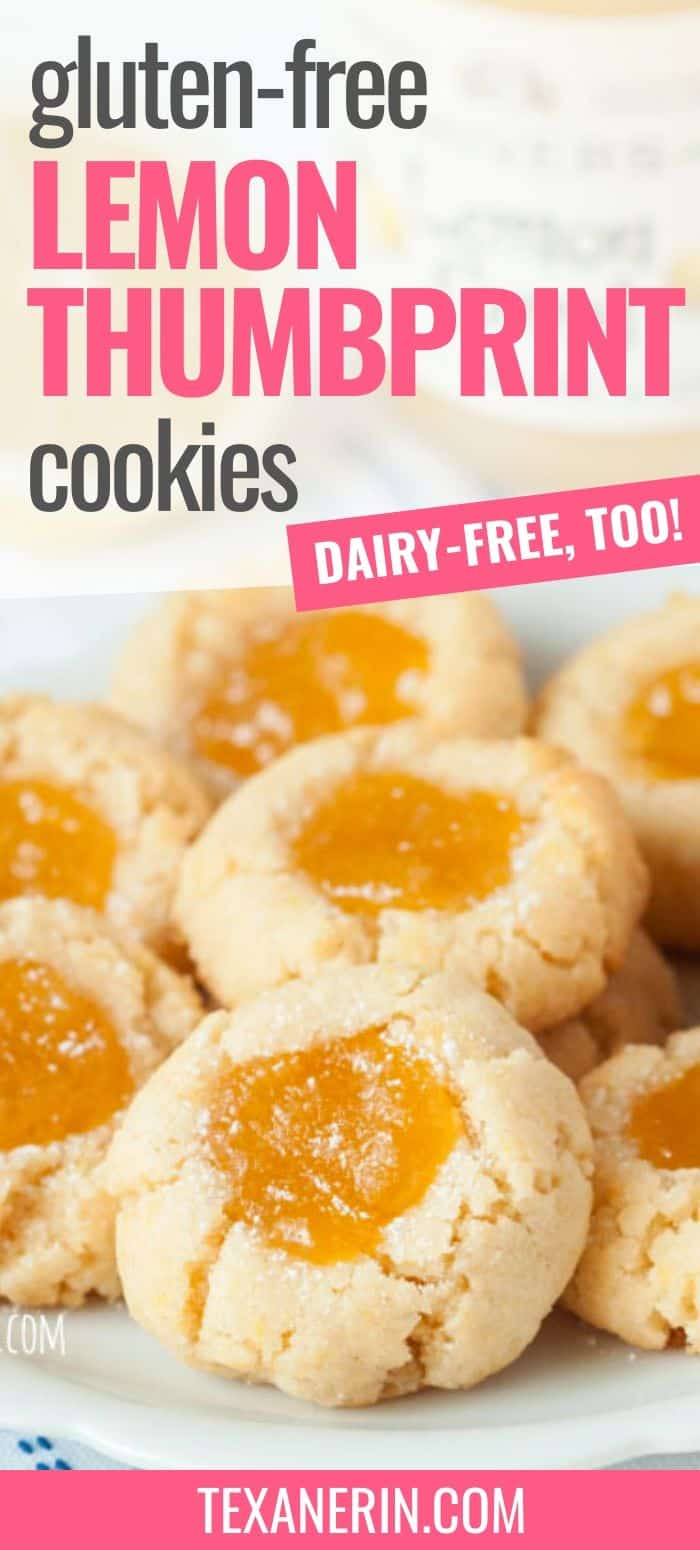 These soft and chewy lemon curd thumbprint are grain-free, gluten-free and are almost guaranteed to turn that frown upside down. Seriously. A great gluten-free cookie recipe!