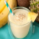 Healthy Piña Colada Smoothie (vegan, dairy-free)