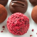 Healthier Raspberry Truffles (vegan, paleo-friendly, dairy-free)