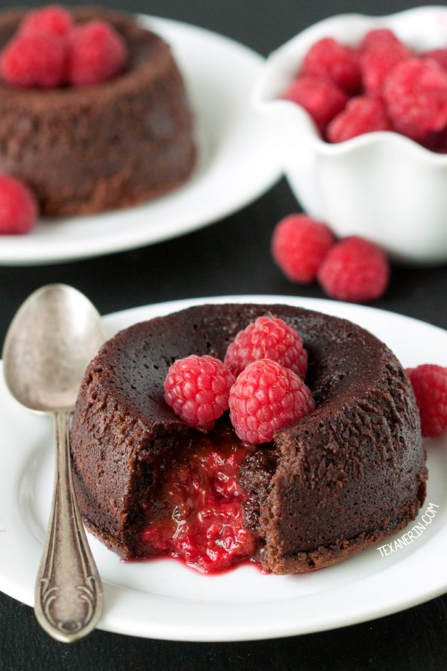 Raspberry Molten Lava Cakes desserts for two