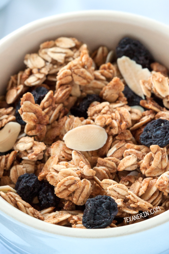 Spiced Blueberry Almond Granola {naturally gluten-free, dairy-free, maple-sweetened and 100% whole grain}
