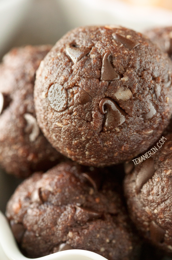 No-bake Chocolate Peanut Butter Protein Balls without protein powder (vegan, gluten-free, grain-free and dairy-free)
