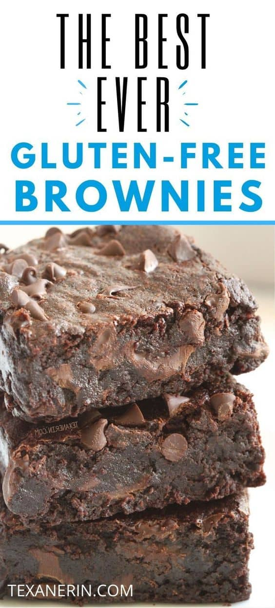 The best gluten-free brownies! So fudgy, gooey, and incredibly easy to make. If you're looking for truly delicious gluten-free brownies, look no further. They can also be made with whole wheat for a non-GF version and they are dairy-free, too.