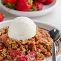 Strawberry Rhubarb Crisp (gluten-free, vegan)