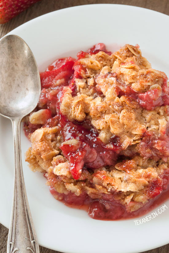 Strawberry Rhubarb Crumble (vegan, gluten-free, 100% whole grain and ...