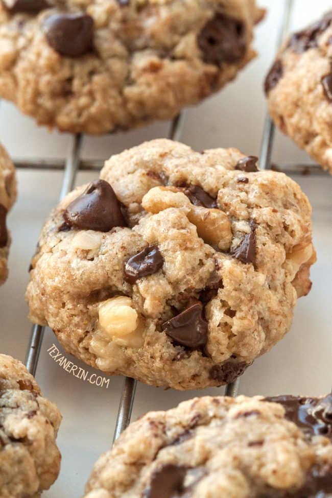 Walnut Chocolate Chip Cookies (vegan, gluten-free, and whole grain)