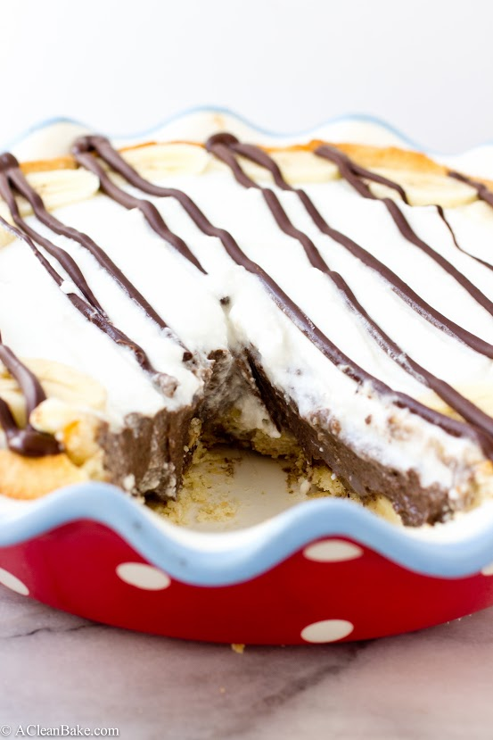 Nutella Banana Cream Pie (grain-free, gluten-free, dairy-free and naturally sweetened)
