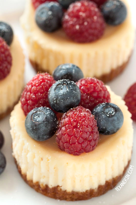 Gluten-free and grain-free mini cheesecakes