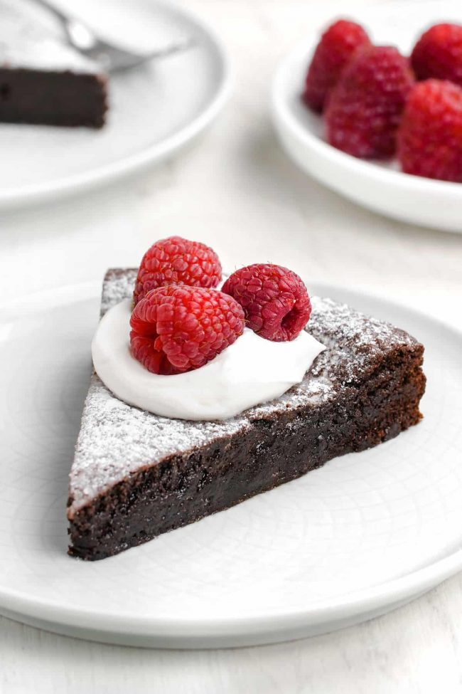 This kladdkaka, also known as Swedish chocolate sticky cake, is amazingly gooey and delicious. This recipe (which is only 8 ingredients!) includes a traditional option as well as a gluten-free, dairy-free and vegan version.