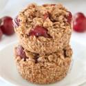 Vegan Mini Cherry Pies (gluten-free, whole grain)