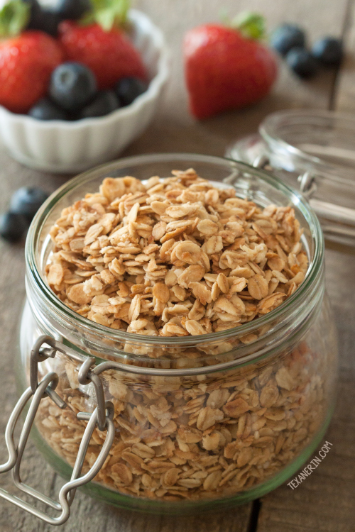 This Gluten-free Vegan Granola is also dairy-free and 100% whole grain!