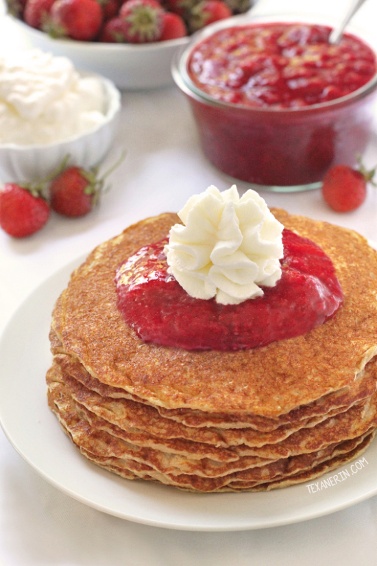 Paleo Buttermilk Pancakes {grain-free, gluten-free, dairy-free}