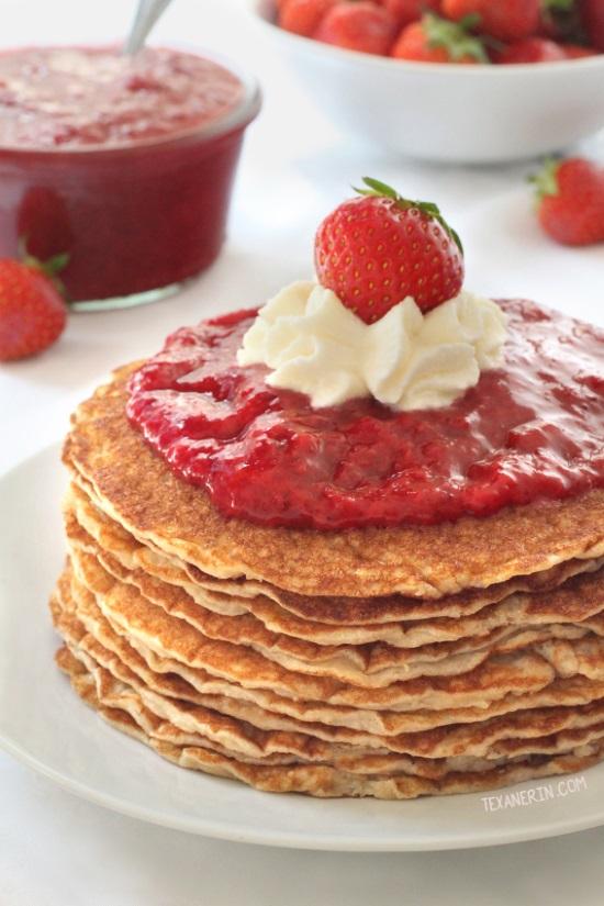 Paleo Buttermilk Pancakes {gluten-free, grain-free, dairy-free}