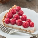 Vegan Raspberry Coconut Tart