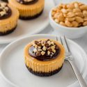 Mini Peanut Butter Cheesecakes (gluten-free option)