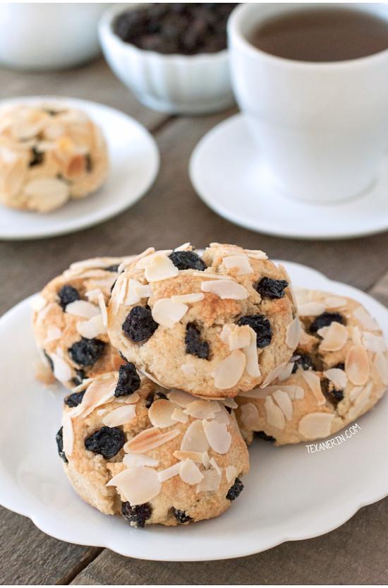Paleo Blueberry Scones {grain-free, gluten-free, naturally sweetened and dairy-free}