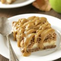 Caramel Apple Cheesecake Bars (gluten-free, whole grain)