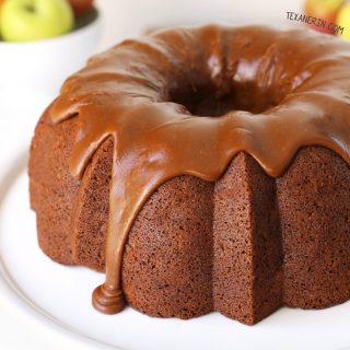 Healthier Whole Grain Apple Cheesecake Bundt Cake