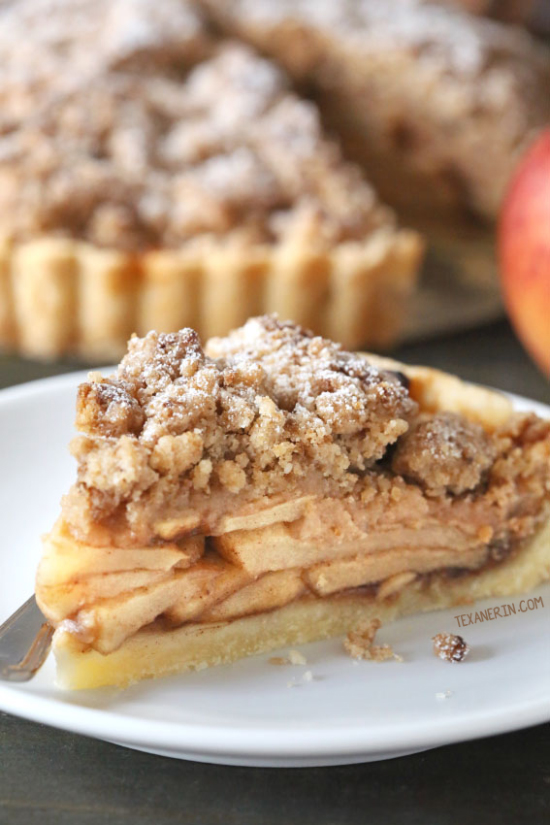 Apple Crumb Tart {gluten-free and whole grain options}
