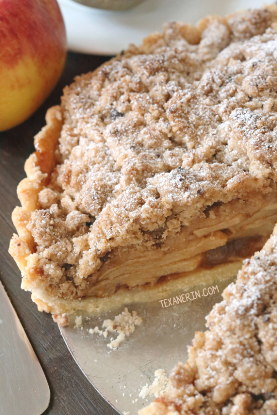 Apple Crumb Tart {whole grain, gluten-free options}