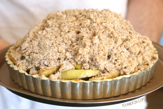 Apple Crumb Tart {gluten-free, whole grain options}