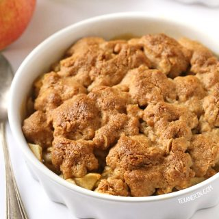 Peanut Butter Apple Crumble (gluten-free, vegan, whole grain, dairy-free)