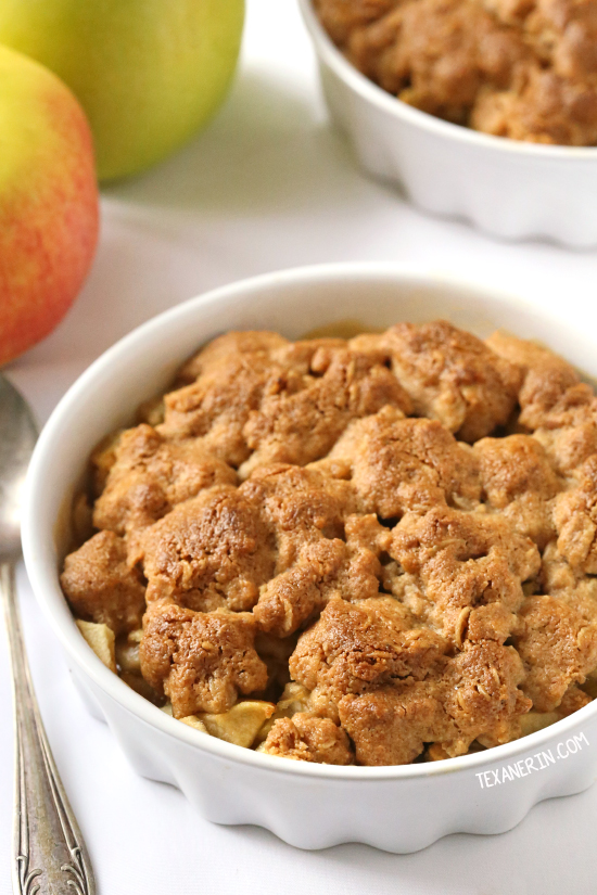Peanut Butter Apple Crumble {vegan, gluten-free, dairy-free and 100% whole grain}