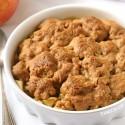 Peanut Butter Apple Crumble (gluten-free, vegan, whole grain)