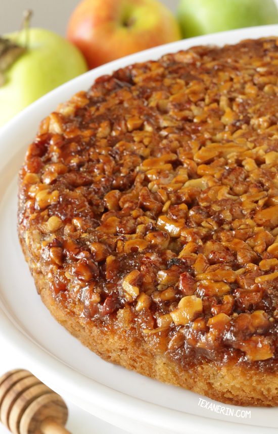 Upside Down Apple Honey Cake (dairy-free, gluten-free and whole grain ...