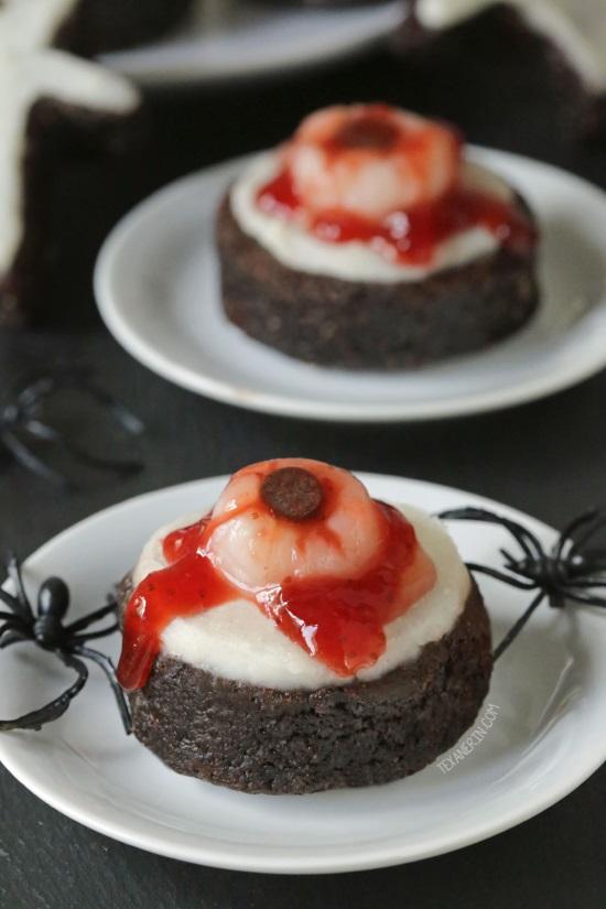 Bloody Eyeball Brownies (paleo, grain-free, gluten-free, dairy-free)