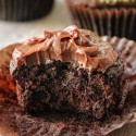Chocolate Football Cupcakes (vegan, dairy-free, whole grain)