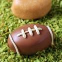 Chocolate Peanut Butter Football Truffles (grain-free + vegan / paleo options)