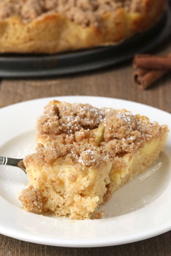 German Apple Cake {100% whole grain and dairy-free}