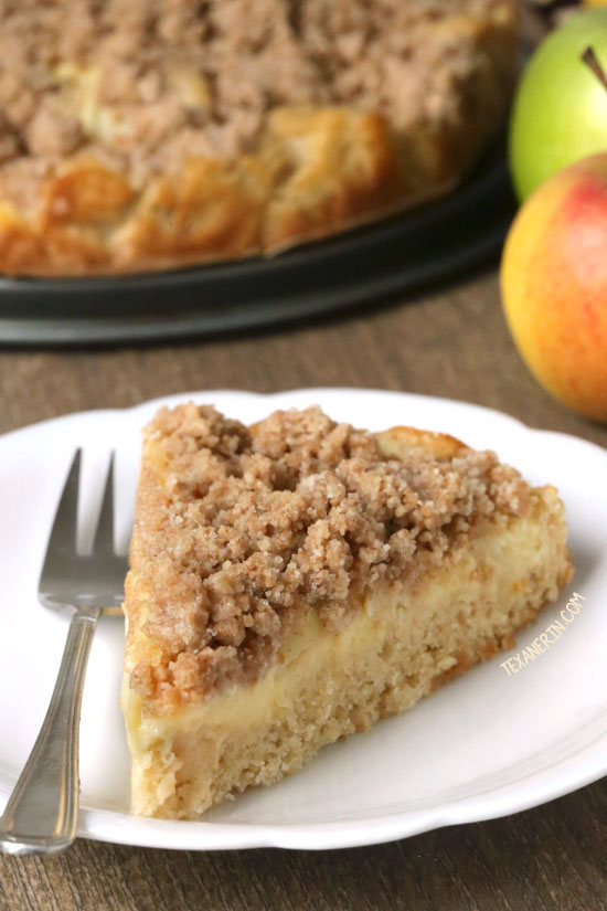 German Apple Pudding Cake {100% whole grain and dairy-free}