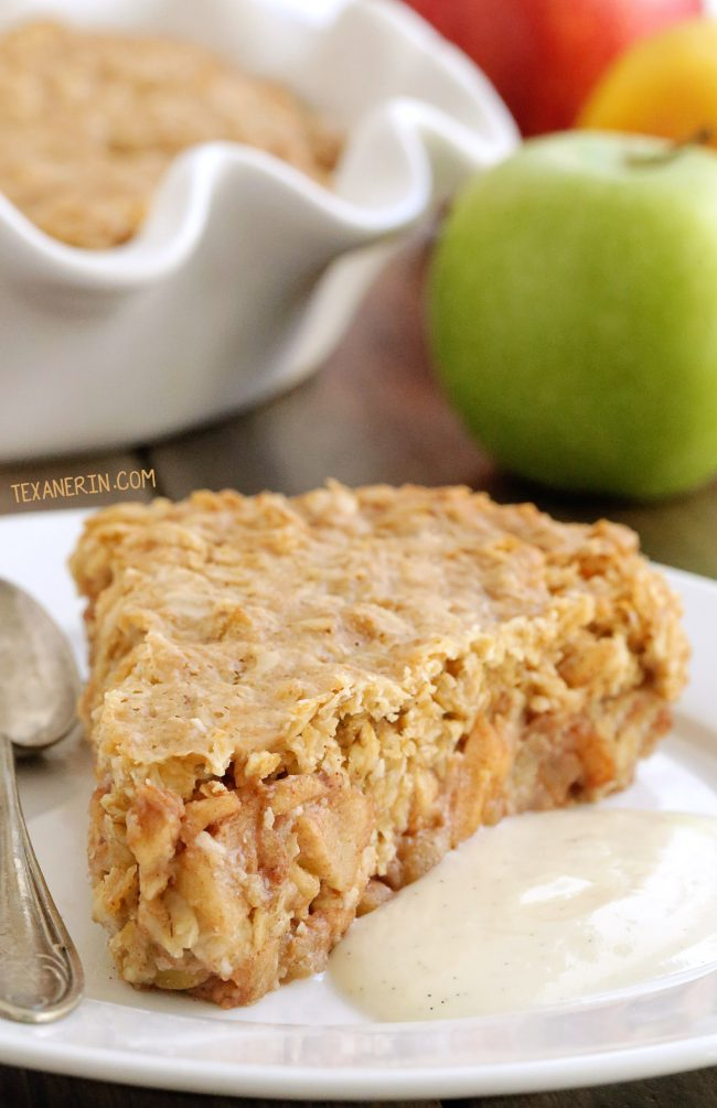 Swedish Apple Pie (gluten-free, vegan, whole grain, dairy-free – please click through to the recipe to see the dietary-friendly options!) With a video.
