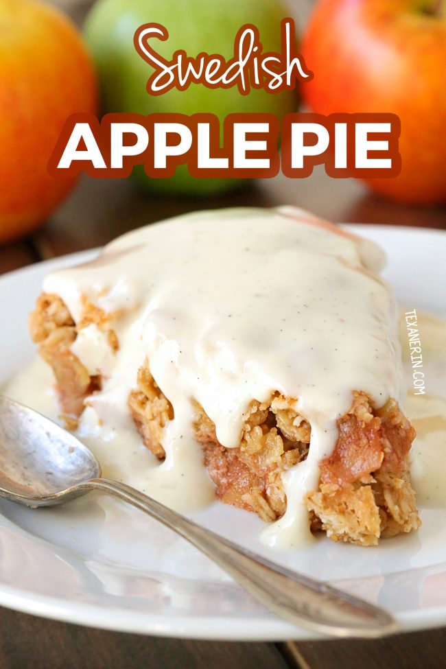 This Swedish apple pie is similar to a crisp and is naturally gluten-free, vegan, dairy-free and 100% whole grain! The reviewers love it.