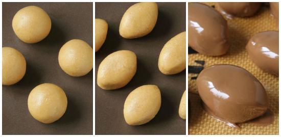 Chocolate Peanut Butter Football Truffles