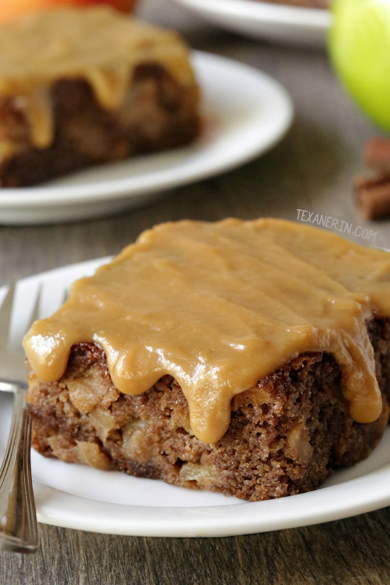 Caramel Apple Cake (gluten-free, whole grain options) - Texanerin ...