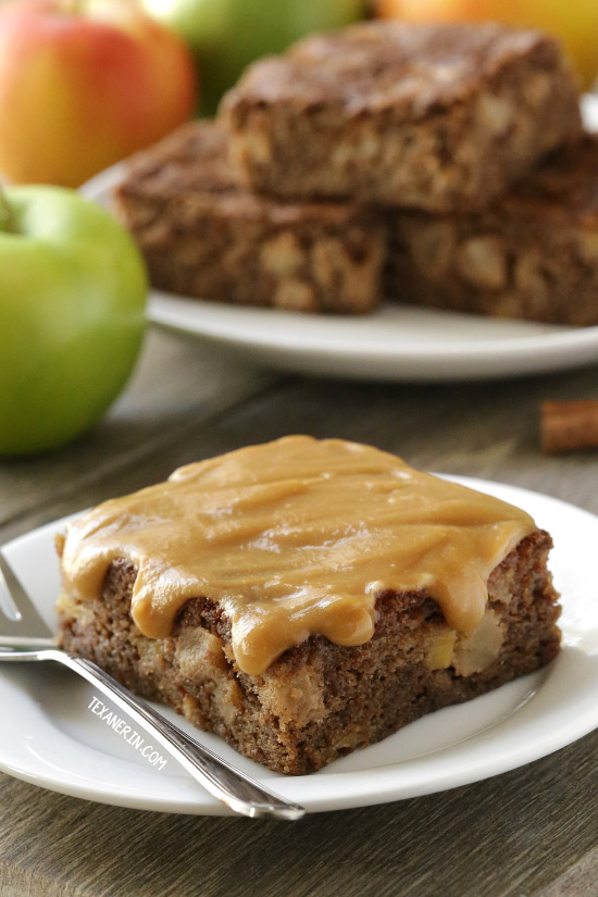 Caramel Apple Cake {gluten-free and whole grain options}