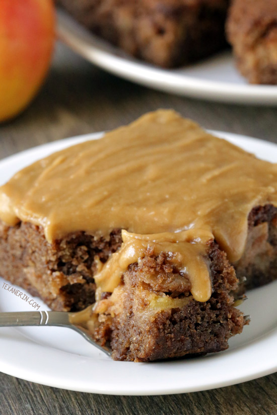 Caramel Apple Cake {whole grain and gluten-free options}
