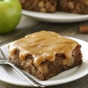 Apple Cake with Easy Caramel Frosting (gluten-free option)