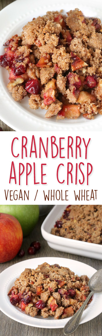 Cranberry Apple Pecan Crisp {vegan, dairy-free, 100% whole grain}