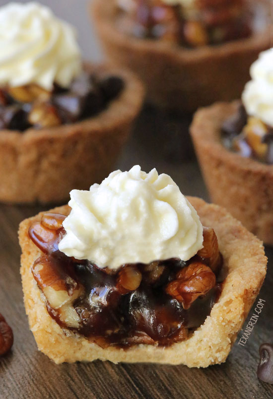 Healthier Mini Pecan Pies {vegan, gluten-free, 100% whole grain, and dairy-free options}