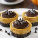 Mini Pumpkin Cheesecakes (gluten-free, whole grain options)