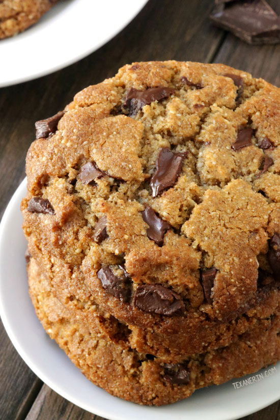 Perfect Paleo Chocolate Chip Cookies (vegan option, grain-free, gluten ...