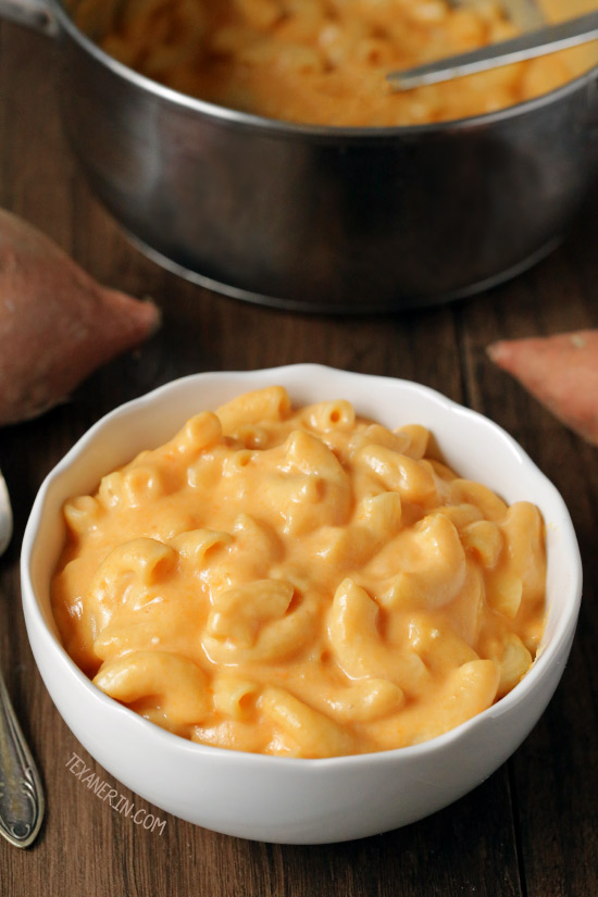 Sweet Potato Macaroni and Cheese {gluten-free and whole grain options}