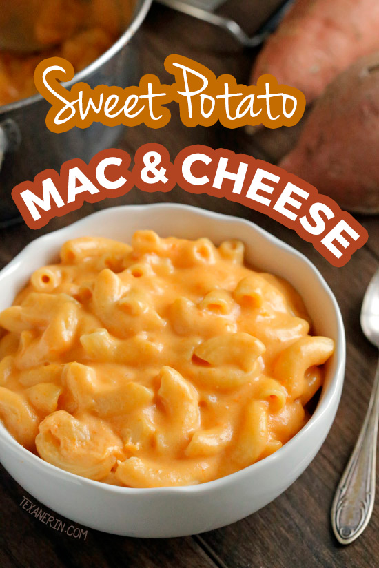 This sweet potato mac and cheese is incredibly creamy and sneaks in a little added nutrition thanks to the sweet potato! With gluten-free and whole grain options.
